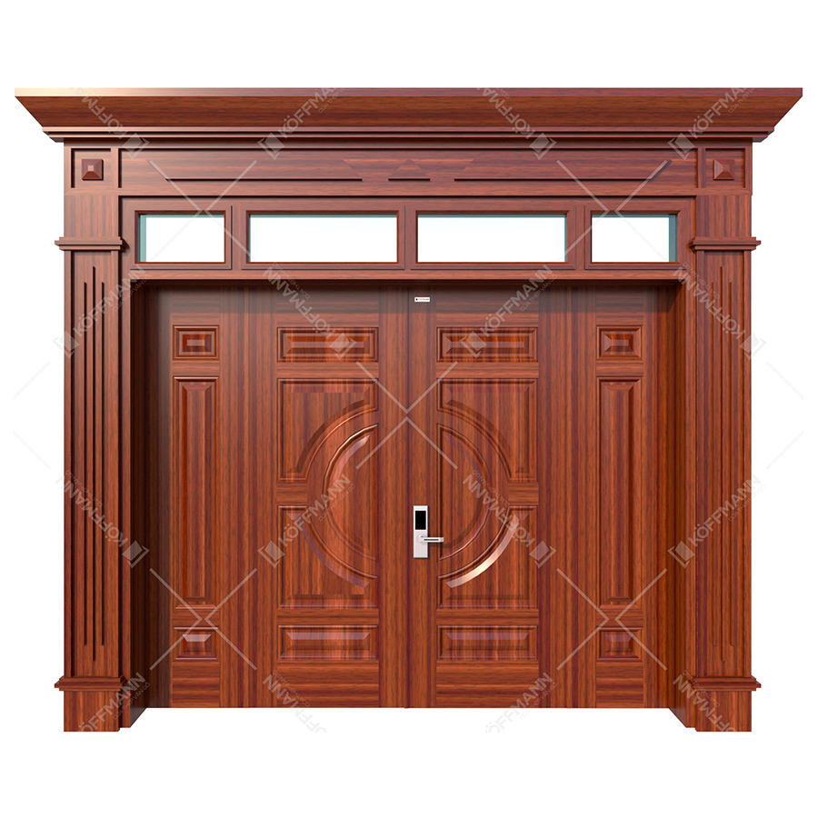 Cửa thép vân gỗ Luxury KL-41.01.03A-4TK