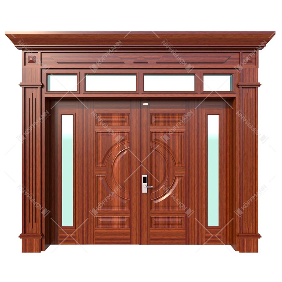 Cửa thép vân gỗ Luxury KL-41.01.K-4TK