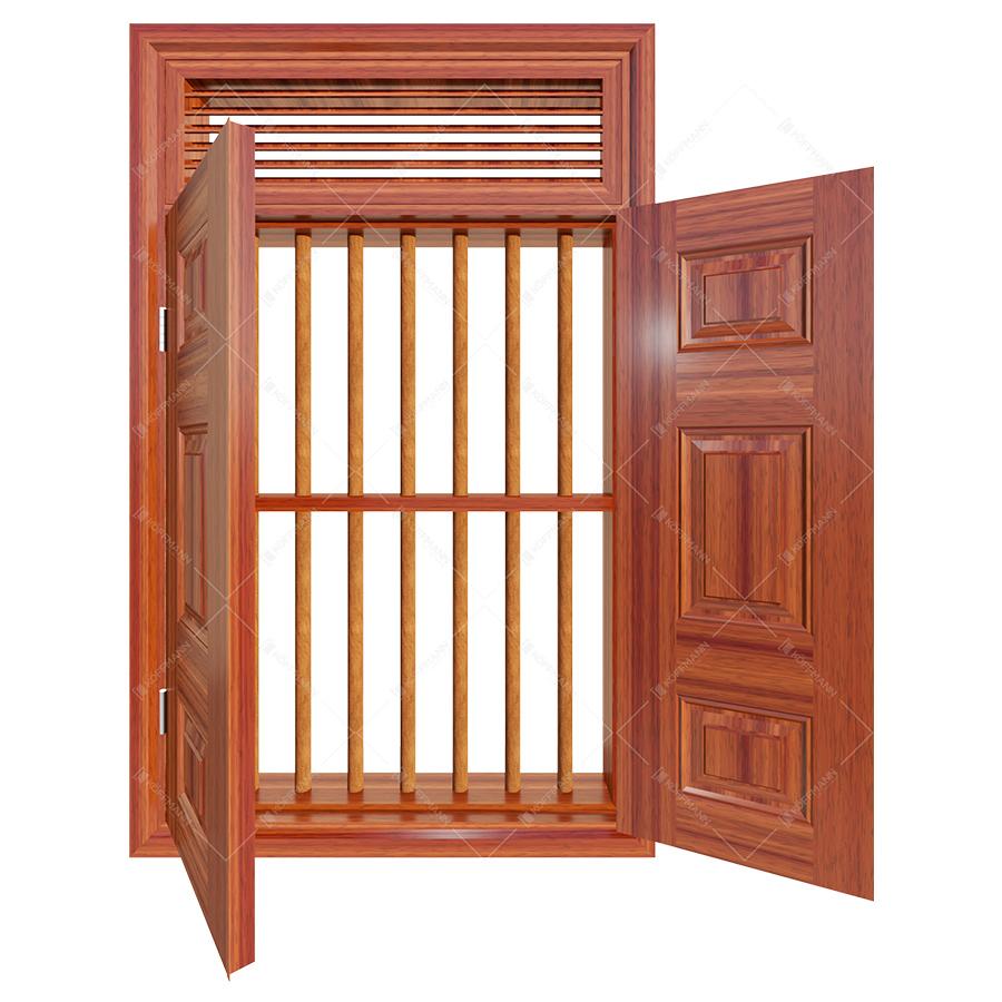 Cửa sổ thép vân gỗ KGS2.CS1-NC-1